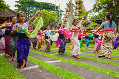Young dancers balinese dancers, Bali. Stock Images
