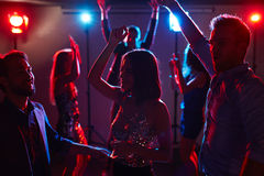 Young dancers in club stock photography