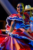 Young dancers from Costa Rica in traditional costume Royalty Free Stock Images