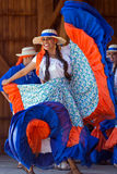 Young dancers from Costa Rica in traditional costume Stock Images