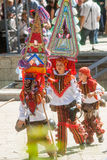 Young dancers in the folk festival in Karlovo. Bulgaria Stock Image