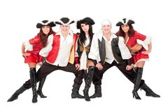 Young dancers in pirate costumes Stock Images