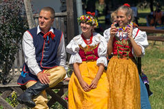 Young dancers from Poland in traditional costume Stock Photo