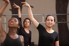 Young Dancers Practing Stock Photo