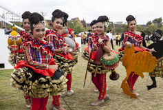 Young dancers Stock Images