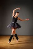 Young dancing ballerina Stock Images