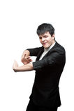 Young dancing businessman Royalty Free Stock Photos