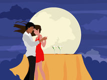 Young dancing couple. Royalty Free Stock Photography