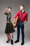 Young dancing retro couple Royalty Free Stock Photo