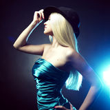 Young dancing woman Stock Images