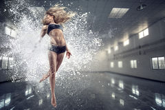 Young dancing woman Royalty Free Stock Photo