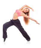 Young dancing woman stock photos