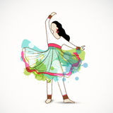Young dancing woman. Royalty Free Stock Photos