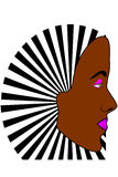 Young dark skin woman's face Stock Image