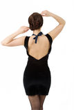 Young dashion woman back view Stock Images