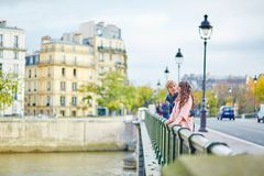 Young dating couple in Paris Stock Photo