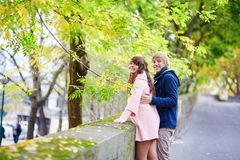 Young dating couple in Paris Stock Photos