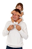 Young daughter and dad in the studio Stock Image