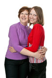 Young daughter with her ​​mother Stock Photo