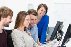 Young dedicated business team Royalty Free Stock Photo