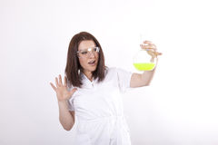 Young dedicated laboratory technician Royalty Free Stock Image