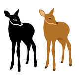 Young deer vector illustration style Flat Royalty Free Stock Photography
