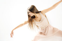 Young, delicate and talented ballet dancer Stock Images