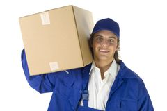 Young deliverer Royalty Free Stock Image