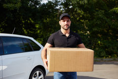Young delivery man Stock Photography