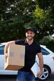 Young delivery man Stock Photo
