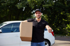 Young delivery man Royalty Free Stock Images