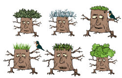 tree character icons Royalty Free Stock Images