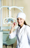 Young dentist in her office Royalty Free Stock Photo