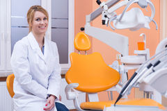 Young dentistry in the workplace Stock Images