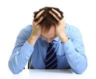 Young Depressed Businessman Stock Photos