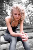 Young depressed girl. Royalty Free Stock Photos