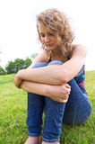 Young depressed girl. Royalty Free Stock Images