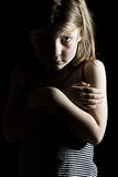 Young Depressed Girl Royalty Free Stock Photography