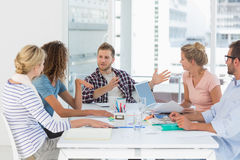 Young design team having a meeting together Royalty Free Stock Image