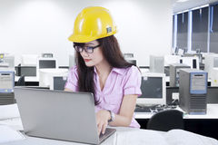 Young designer working on laptop 1 Stock Images