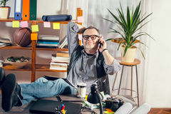 Young designer working at the office Royalty Free Stock Images