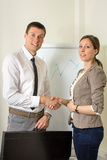 Young designers shaking hands Royalty Free Stock Photos