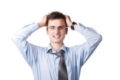 Man with frustrated expression  Royalty Free Stock Images