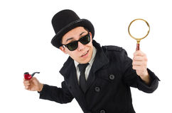Young detective with pipe Royalty Free Stock Photo