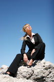 Young determined businesswoman Royalty Free Stock Photography