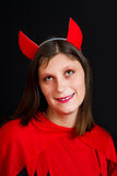 Young devil woman Stock Photo