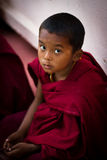 A young Devotee of Mahabodhi Temple, Bodh Gaya, India Royalty Free Stock Image
