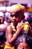 Young devotee during thaipusam day Royalty Free Stock Image