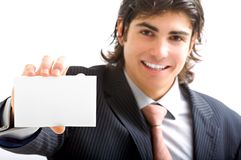 Young director with card Stock Photography