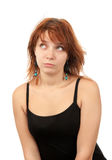Young disappointed woman Stock Images